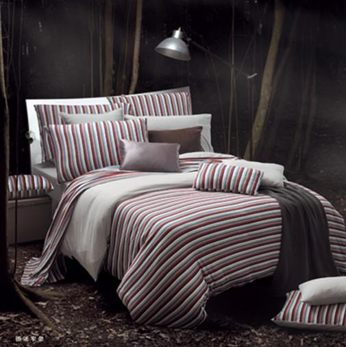 庄重古典斜纹夏季热卖床上4件套