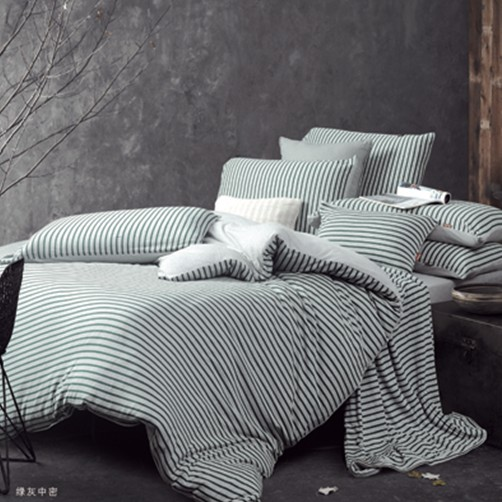 春秋绿灰斜纹热销床上4件套