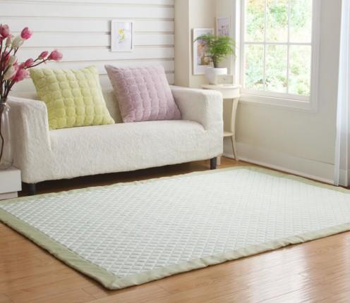 夏季凉感地垫绿色简约地毯