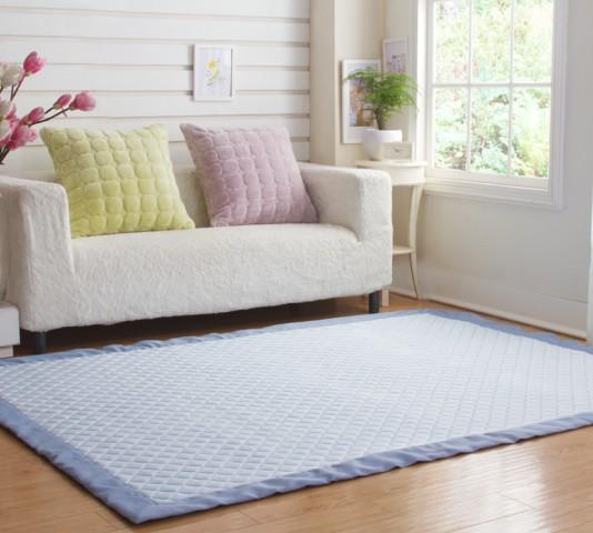纯色接触凉感客厅地垫地毯